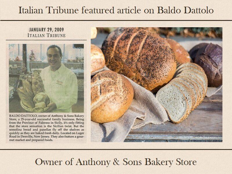 Anthony & Sons Bakery New Jersey